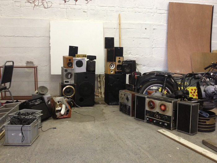 all [most] of the audio equipment left behind by former studio members